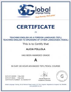 Certificado-Alicia-Pollola-beach-and-languages